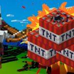 マインクラフトで爆弾を使って敵の塔を大爆破!!! – Minecraft Part4